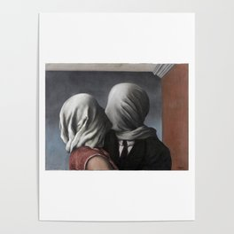 The Lovers II (Les Amants) 1928, Artwork Rene Magritte For Prints, Posters, Shirts, Bags Men Women K Poster