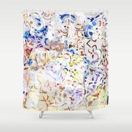 Mosaic of Barcelona VIII Shower Curtain