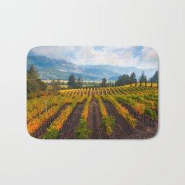 Autumn Vineyard Vista Bath Mat