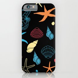 Seahorse Sea Shell Party iPhone Case