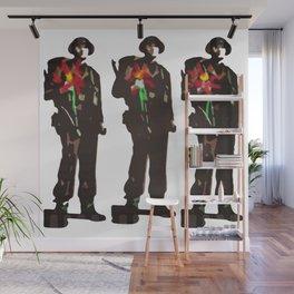 Flowers Not Guns Wall Mural