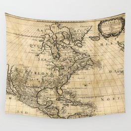 Amerique Septentrionale, Map of North America (1650) Wall Tapestry