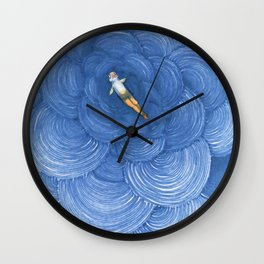 Reverse mermaid having an existential crisis Wall Clock
