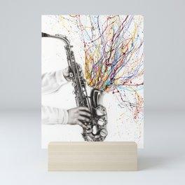 The Jazz Saxophone Mini Art Print