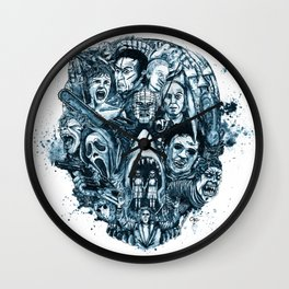 """The Essence of Horror"" [Red Version] by Cap Blackard Wall Clock"