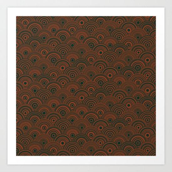 Orbis (Green) Art Print