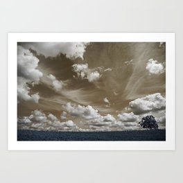 The tree and the sky Art Print