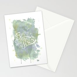 LYRICS - Stay inside the lines color Stationery Cards