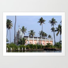 Kerala Church Art Print