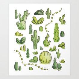 Cactiparty Part II  Art Print