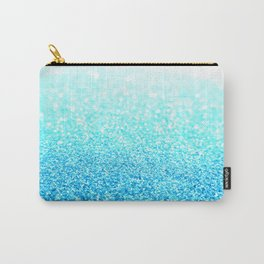 Turquoise Glitter Carry-All Pouch