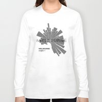 melbourne Long Sleeve T-shirts featuring Melbourne Map by Shirt Urbanization