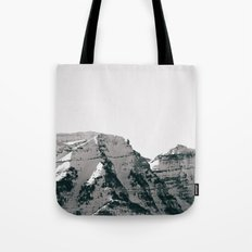 Black and White Wasatch Mountains Tote Bag