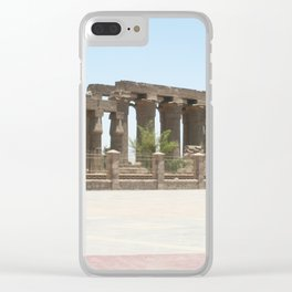 Temple of Luxor, no. 25 Clear iPhone Case