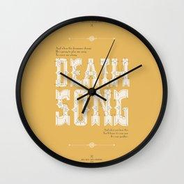 Death Song Wall Clock