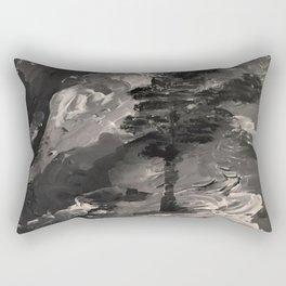 The Last Tree - black and white Rectangular Pillow