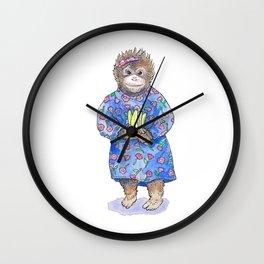 Generous Orangutan Wall Clock