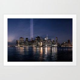 Tribute in Light. New York City, 4 Art Print