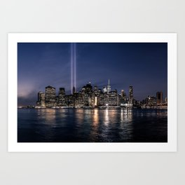 Tribute in Light. New York City, 4 Art Print