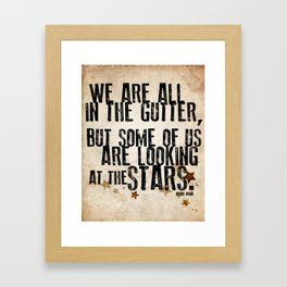 Oscar Wilde: Looking At The Stars Framed Art Print