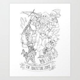 The Adventure Zone: Tres Horny Boys Art Print