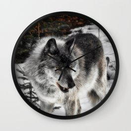 Hungry Wolf Wall Clock