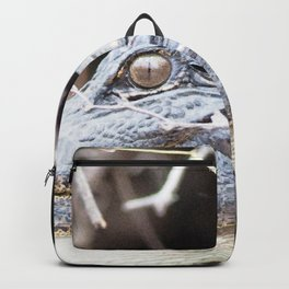 Watercolor Alligator 01, Okefenokee Swamp, Geogia, Swamp Relic Backpack