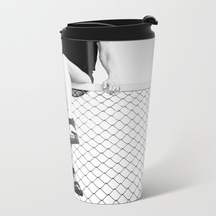 Hoping Fences Metal Travel Mug