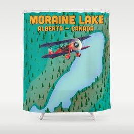Moraine lake Alberta canada flight map Shower Curtain
