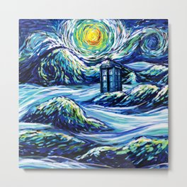 Tardis Lost In The Middle Wave Metal Print