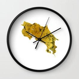 Costa Rica   Pura Vida   Gold Wall Clock