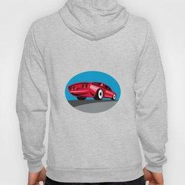American Muscle Car Oval Retro Hoody