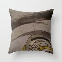 reassurance Throw Pillows featuring Abstraction INC II by Magdalena Hristova