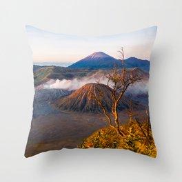 Mt Bromo Volcano, Java, Indonesia Throw Pillow