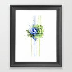 Flower Rose Watercolor Painting 12th Man Art Framed Art Print