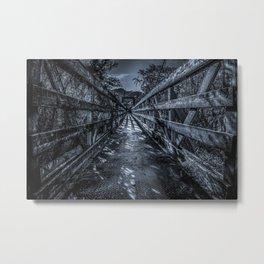 Scary Bridge Metal Print