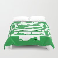farm Duvet Covers featuring ant farm by Gray