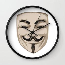 Anonymous mask Wall Clock