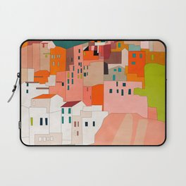 italy coast houses minimal abstract painting Laptop Sleeve