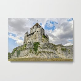Medieval Castle on a Hill Metal Print