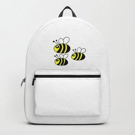 childishly Hand drawn bee Backpack