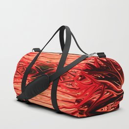 Strawberry Firethorn Quad IV by Chris Sparks Duffle Bag