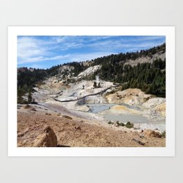View of Bumpass Hell Art Print