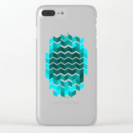 Trendy Abstract Design Pattern Geometric Gift Clear iPhone Case