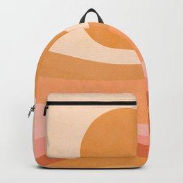 Golden Summer Sunset - Abstract landscape Backpack