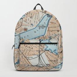 Vintage Map of Boston MA (1906) Backpack