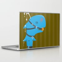 bdsm Laptop & iPad Skins featuring BDSM Whale by Jamee Nall