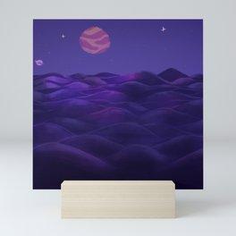Purple planet Mini Art Print