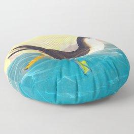 Dusky Petrel Bird Floor Pillow