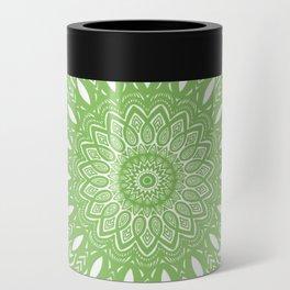 Light Lime Green Mandala Simple Minimal Minimalistic Can Cooler